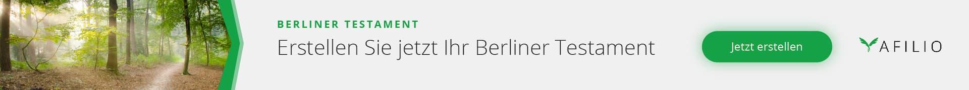 Berliner Testament erstellen