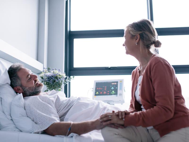 Ehepaar im Krankenhaus