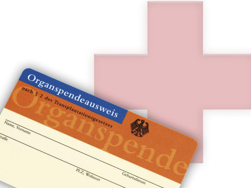 Ausweis zur Organspende