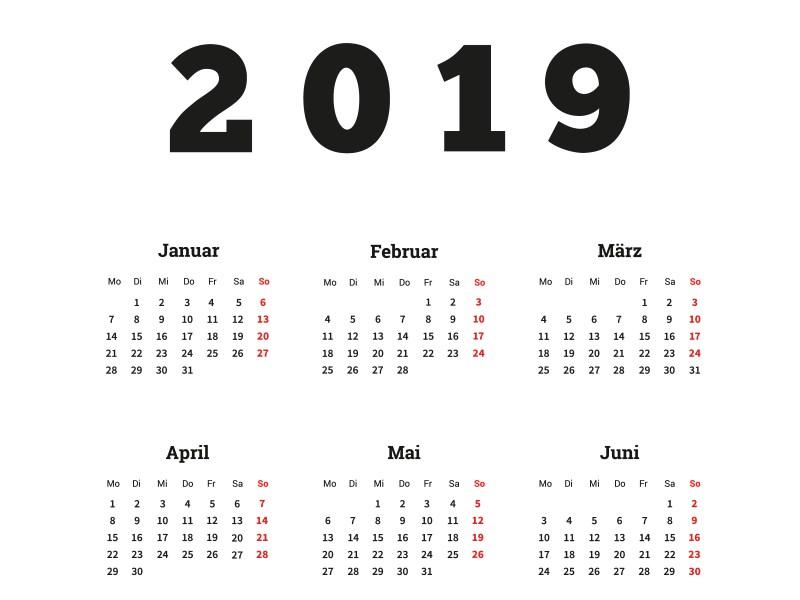 Kalenderblatt 2019: Kurzzeitpflege ist nicht für längere Zeiträume gedacht