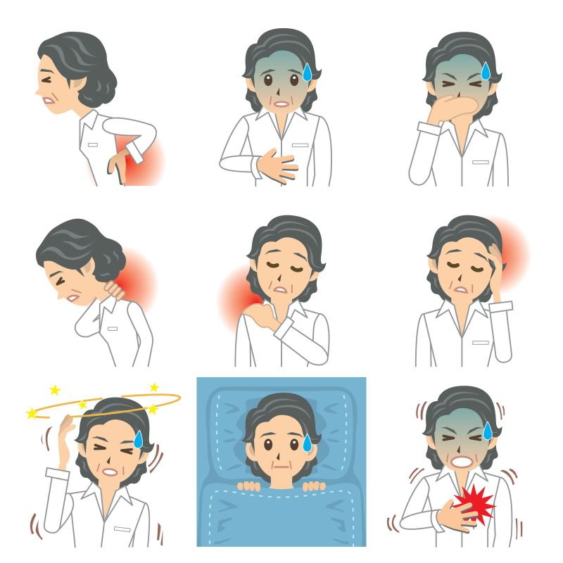 Übersicht Symptome Herzinfarkt